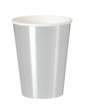8 silver cups - Solid Colour Tableware