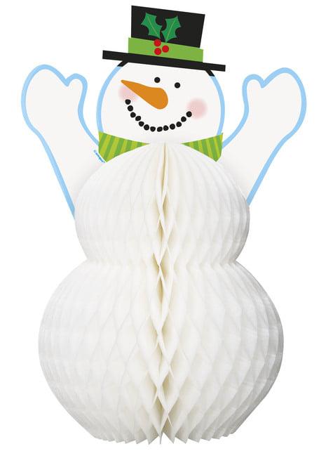 Snowman honeycomb centerpiece - Basic Christmas