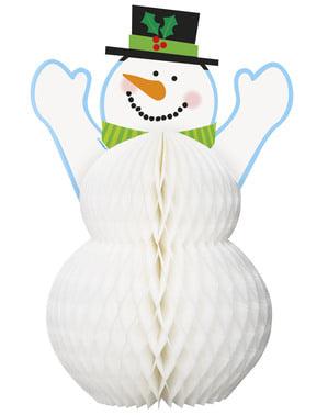 Świąteczny stroik na stół w kształcie bałwanka - Basic Christmas
