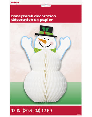 Centro de mesa de panel de abeja Muñeco de nieve - Basic Christmas