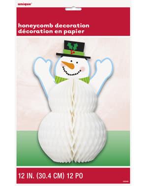 Honingraat sneeuwpop middenstuk - Basic Christmas