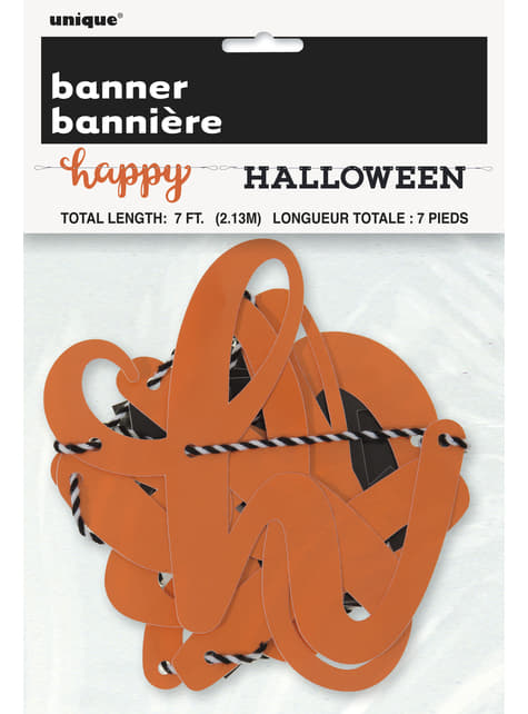 Two-piece Happy Halloween banner - Basic Halloween
