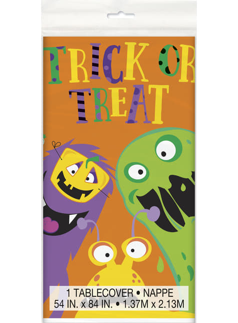 Mantel rectangular de monstruos infantiles - Silly Halloween Monsters