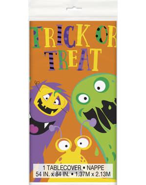Rechthoekig tafelkleed met leuke monsters - Silly Halloween Monsters