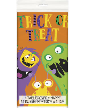 Rectangular tablecloth with kiddy monsters - Silly Halloween Monsters