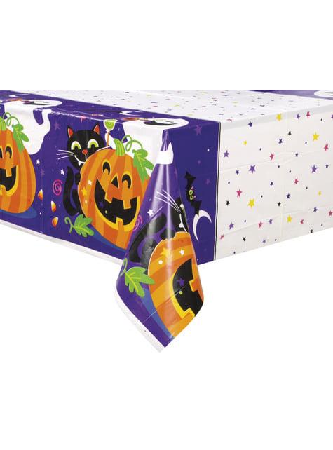 Mantel rectangular de calabaza gato y fantasma divertidos - Happy Halloween