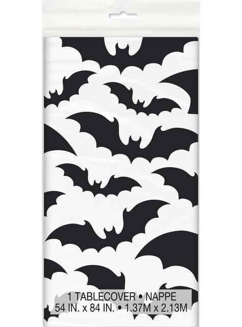 Čtvercový ubrus s netopýry - Black Bats Halloween