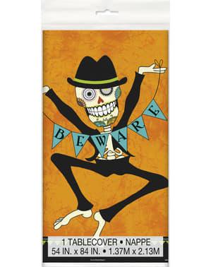 Mantel rectangular de esqueleto del día de los muertos - Day of the Dead