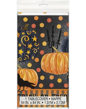 Rechteckige Tischdecke mit eleganten Kürbissen - Painted Pumpin & Spooky Night