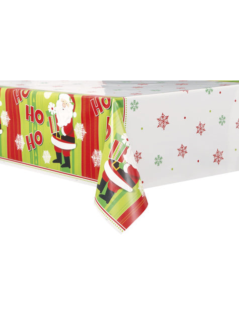 Mantel rectangular de Papá Noel - Happy Santa