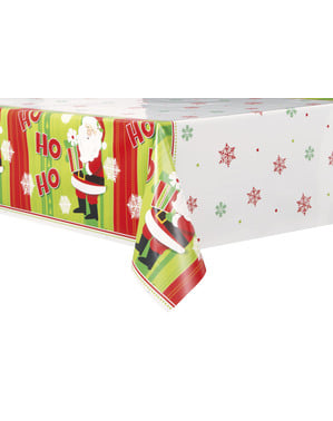 Toalha de mesa retangular de Pai Natal - Happy Santa