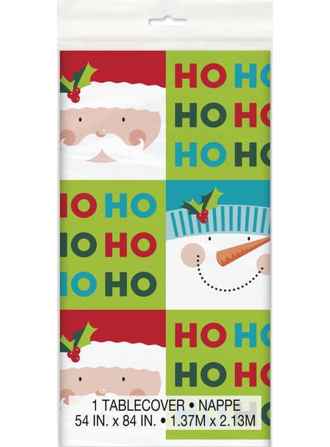 Nappe rectangulaire de noël HO HO HO - Holly Santa