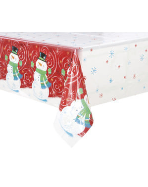 Mantel rectangular de muñeco de nieve - Snowman Swirl