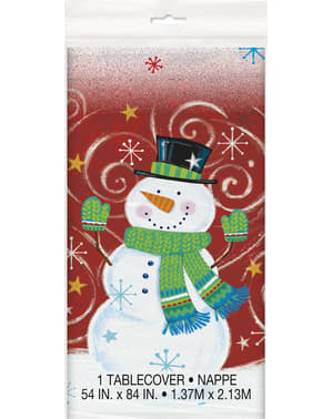 Rectangular tablecloth with snowman - Snowman Swirl