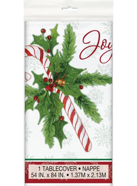 Mantel rectangular de caramelo navideño - Candy Cane Christmas - para tus fiestas