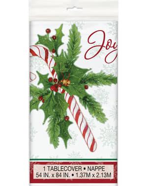 キャンディの杖と長方形のテーブルクロス - キャンディの杖クリスマス