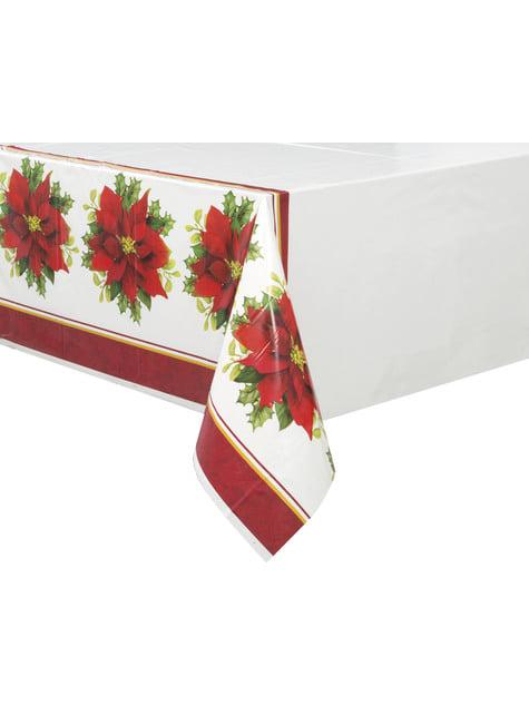 Nappe rectangulaire avec fleur étoile de noël élégant- Holly Poinsettia