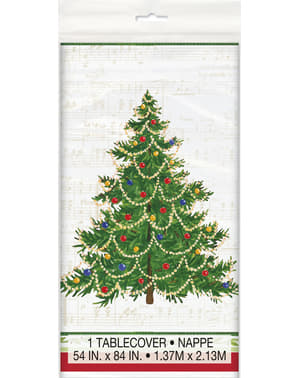 Rectangular tablecloth with Christmas tree - Classic Christmas Tree