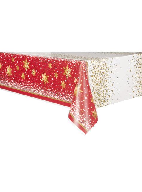 Rectangular Merry Christmas tablecloth - Gold Sparkle Christmas