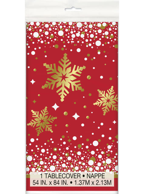 Rectangular Merry Christmas tablecloth - Gold Sparkle Christmas