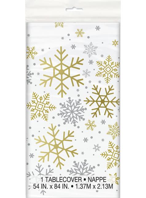 Rectangular tablecloth - Silver & Gold Holiday Snowflakes