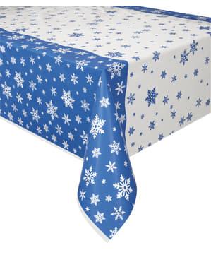 Rektangulær jule dug - White Snowflakes