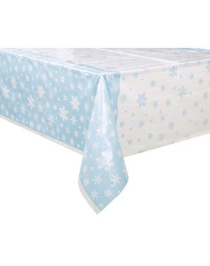 Mantel rectangular navideño - White Snowflakes