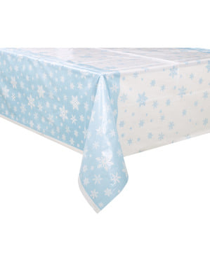 Rectangular Christmas tablecloth - White Snowflakes