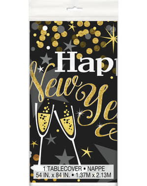 Правоъгълна новогодишна покривка - блестяща Нова година