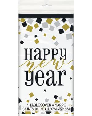 Rechteckige Silvester Tischdecke - Happy New Year