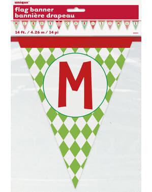 Banderines de Merry Christmas - Basic Christmas