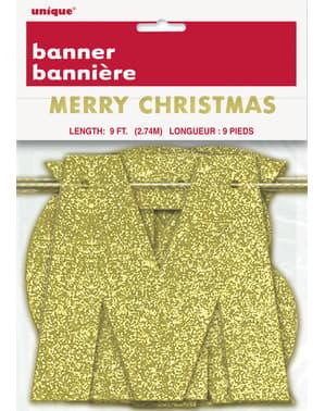 Guirnalda dorada brillante Merry Christmas - Basic Christmas