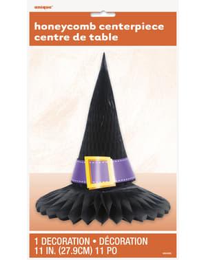 Centrotavola nido d'ape con cappello da strega - Basic Halloween