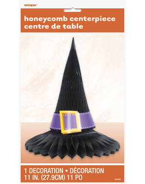 Witch's hat honeycomb centerpiece - Basic Halloween