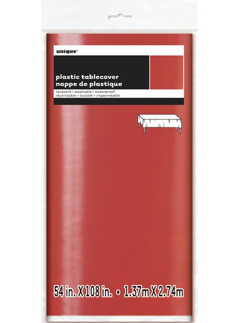 Mantel rectangular rojo brillante - Basic Christmas - para tus fiestas