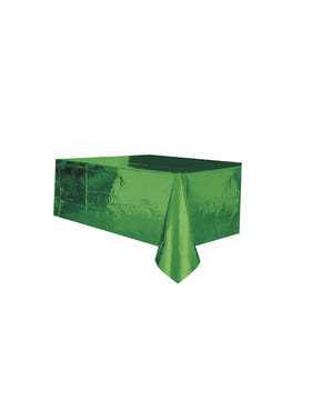 Rectangular shiny green tablecloth - Basic Christmas