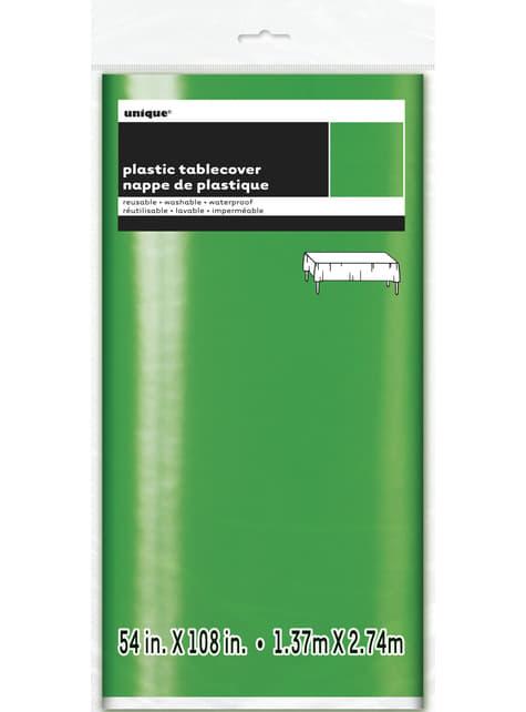 Mantel rectangular verde brillante - Basic Christmas - para tus fiestas