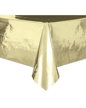 Toalha de mesa retangular dourado - Basic Christmas