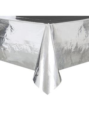 Toalha de mesa retangular prateada - Linha Cores Básicas