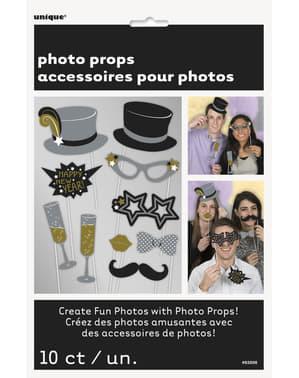 10 accesorii pentru Photobooth - Jazzy New year's