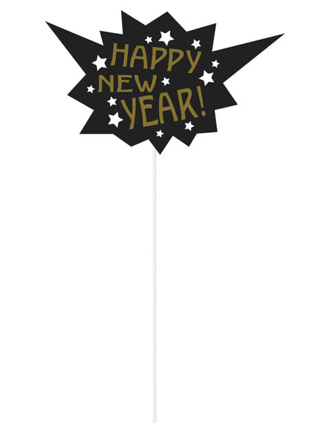 10 photo props - Jazzy New Year's