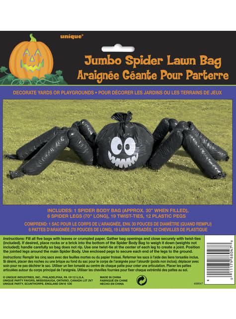 Aranha decorativa de plástico insuflável - Basic Halloween