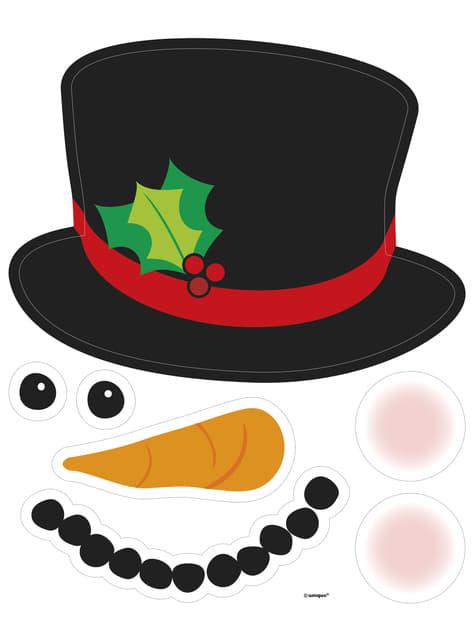 2 aimants décoratifs bonhomme de neige - Basic Christmas