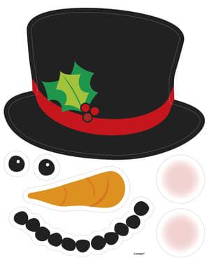 Sett med 2 dekorative snømann magneter - Basic Jul