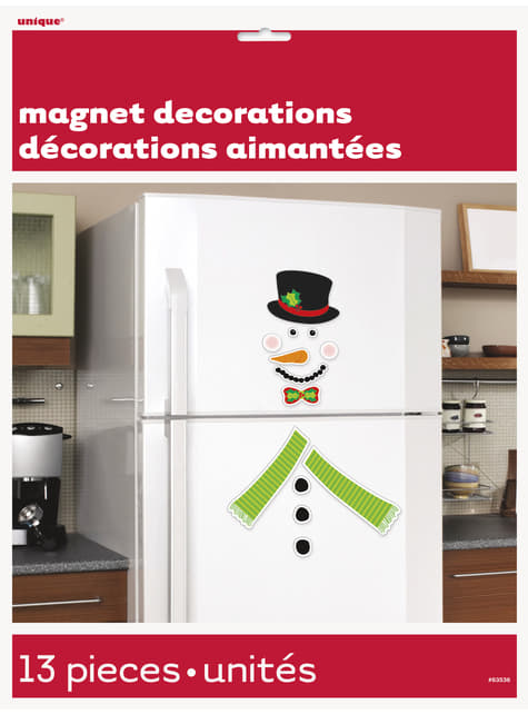 2 decorative snowman magnets - Basic Christmas