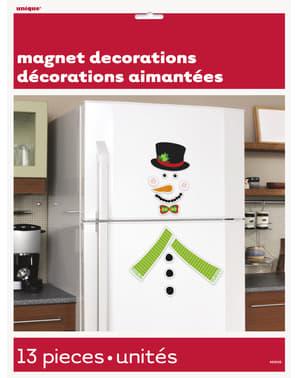 2 decorative snowman magnets - Basic Christmas