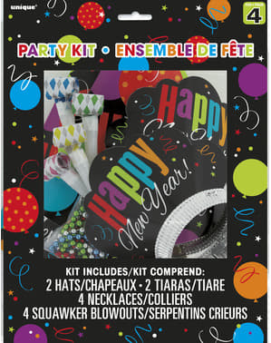 Kit pentru petreceri pentru 4 persoane - Happy New Year