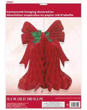 Decoración colgante de campana navideña panel de abeja - Basic Christmas