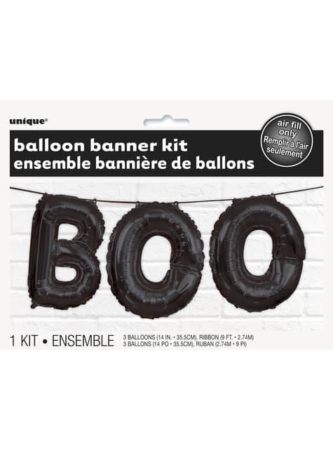 BOO balloon banner sign - Basic Halloween