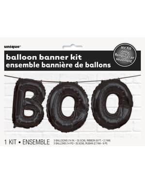 BOO गुब्बारा बैनर संकेत - बेसिक हैलोवीन